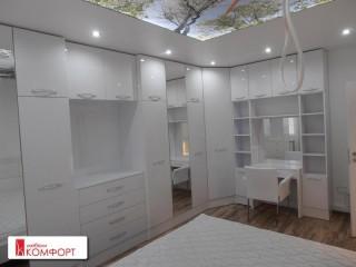 Спалня бяла гланц